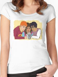 The Golden Trio share a hot cocoa Women's Fitted Scoop T-Shirt