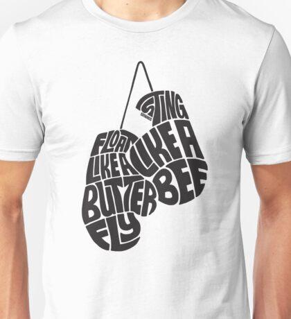 Float Like A Butterfly, Sting Like a Bee (Black) Unisex T-Shirt