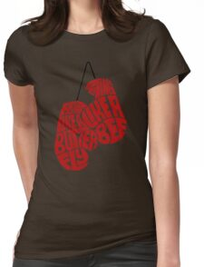 Float Like A Butterfly, Sting Like a Bee (Red) Womens Fitted T-Shirt