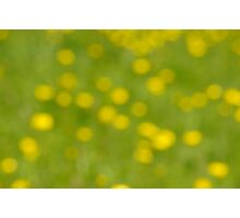 Buttercup Bokeh Photographic Print