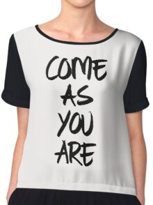 Come as you are, brush - OneMandalaAday Chiffon Top