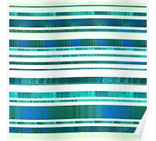 Chillout Stripy (green) Poster