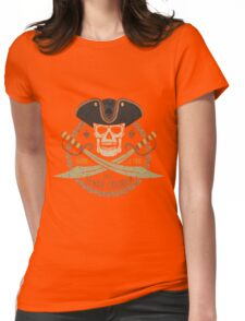 Pirate logo black tricorn Womens Fitted T-Shirt