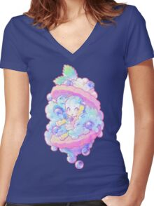 confiserie Women's Fitted V-Neck T-Shirt