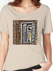 ANCIENT SHUTTERS - MODERN WINDOW - CURRENT REFLECTION Women's Relaxed Fit T-Shirt