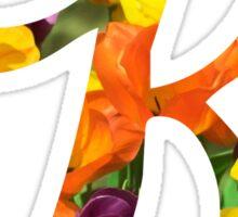 Floral K Sticker