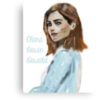 Clara Oswin Oswald Inspired Computer Painting  Canvas Print