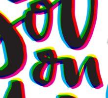 See You on Mars (Glitch Print) Light – Sticker Sticker