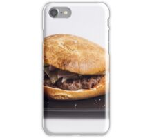Bacon burger and chips iPhone Case/Skin