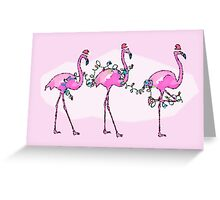 Flamingo Christmas Greeting Card