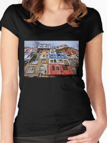 The Hundertwasserhaus - Vienna Women's Fitted Scoop T-Shirt