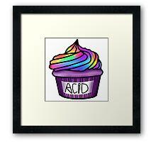 acid cupcake Framed Print