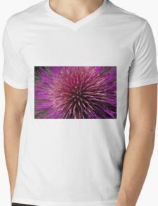 Fabulous cardoon flower closeup Mens V-Neck T-Shirt