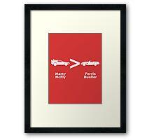 McFly > Bueller Framed Print