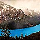 Peyto Lake in Banff National Park by Yukondick