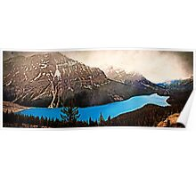 Peyto Lake in Banff National Park Poster