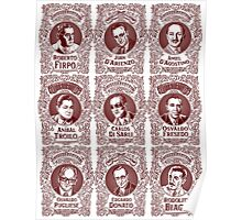 Tango Orchestra Leaders (in red) Poster