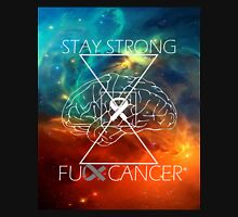 Fuck Cancer // Galaxy // White Font // Brain Cancer Unisex T-Shirt