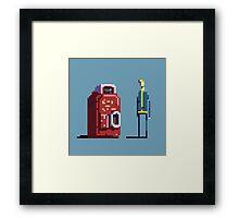 Vault boy and Nuka-Cola vending machine Framed Print