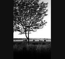 Blackwhite tree Mens V-Neck T-Shirt