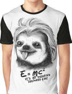 Sloth Einstein Graphic T-Shirt