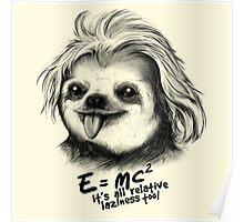 Sloth Einstein Poster