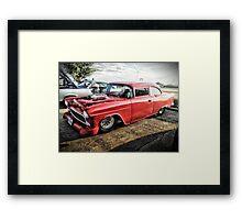 1955 Chevrolet 210 - 2 Door Post / Customized  Framed Print