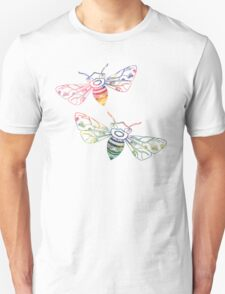 Multicolored Doodle Bees Unisex T-Shirt