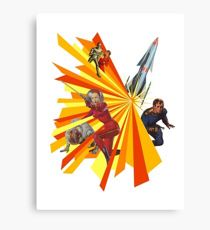Pulp Science Fiction Canvas Print