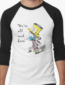 Mad Hatter Tea Party  Men's Baseball ¾ T-Shirt