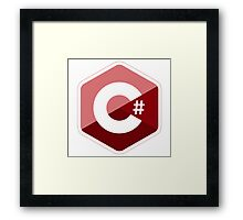 c sharp red language programming c# Framed Print