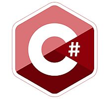 c sharp red language programming c# Photographic Print