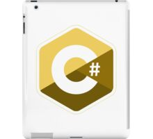c sharp gold lenguage programming c# iPad Case/Skin