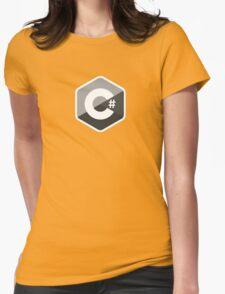 c sharp black lenguage programming c# Womens Fitted T-Shirt