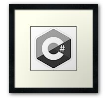 c sharp black lenguage programming c# Framed Print
