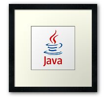 java programming language sticker Framed Print