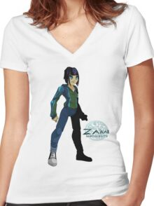 """Sael - """"Za'nar"""" Character Shirt Women's Fitted V-Neck T-Shirt"""