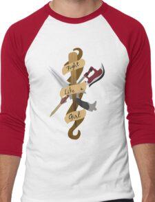 Fight Like A Girl Men's Baseball ¾ T-Shirt
