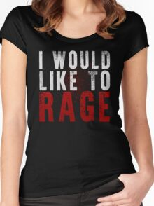 I WOULD LIKE TO RAGE!!! (White)  Women's Fitted Scoop T-Shirt