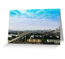 Steel and Blue Greeting Card