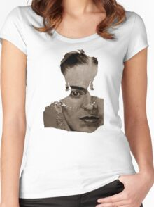 FRIDA - shirt version - sepia Women's Fitted Scoop T-Shirt