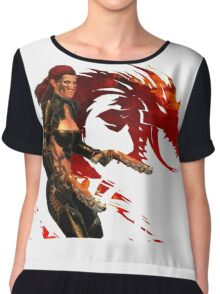 Guild Wars 2 - A human shooter Chiffon Top