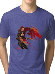 Guild Wars 2 - A human shooter Tri-blend T-Shirt