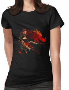 Guild Wars 2 - A human shooter Womens Fitted T-Shirt