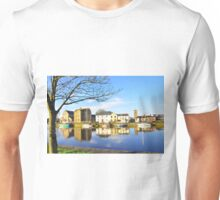 The Claddagh, Galway, Water Reflections Unisex T-Shirt
