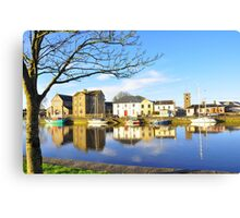 The Claddagh, Galway, Water Reflections Canvas Print