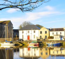 The Claddagh, Galway, Water Reflections Sticker