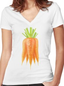 Bunch of carrots Women's Fitted V-Neck T-Shirt