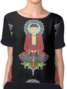 Electric Buddha Chiffon Top