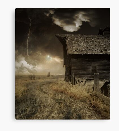 Lightning Hut Canvas Print